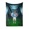 Custom Fleece Blanket - Football Face Replace
