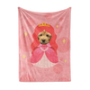 Custom Fleece Blanket - Princess Face Replace (Dog)