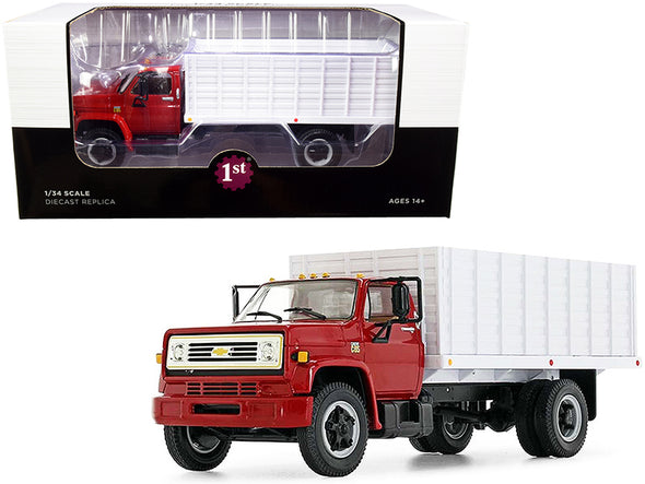 Chevrolet C65 Grain Truck Red and White 1/34 Diecast