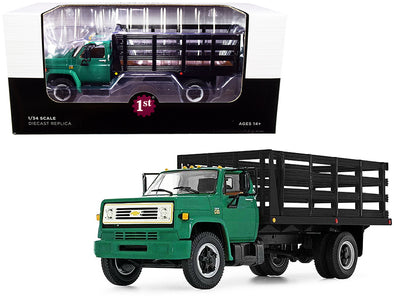 Chevrolet C65 Stake Truck Green and Black 1/34 Diecast
