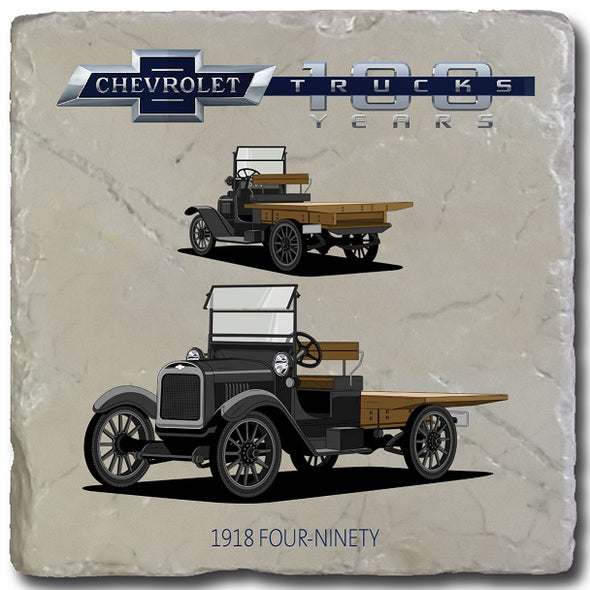 Trucks Chevy 1918 Four Ninety Stone Coaster