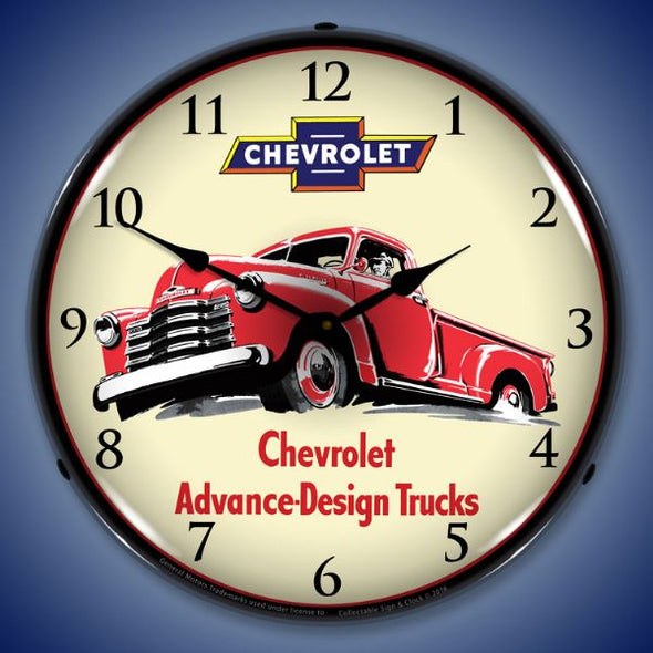 1953 Chevrolet Truck Lighted Clock