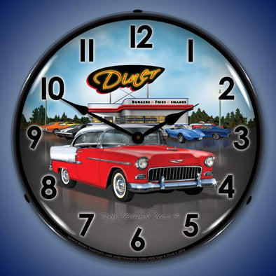 1955 Chevrolet Bel Air Diner Lighted Clock