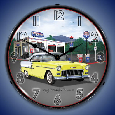 1955 Chevrolet Bel Air Mitch's Garage Lighted Clock