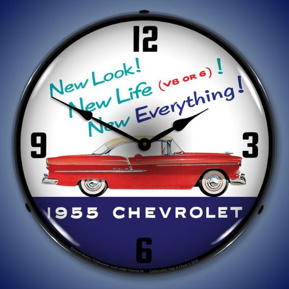 1955 Chevrolet New Look Lighted Clock