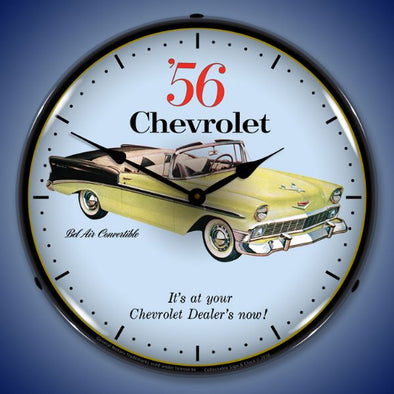 1956 Chevrolet Bel Air Convertible Lighted Clock