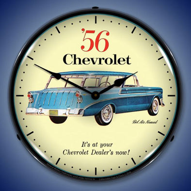 1956 Chevrolet Nomad Lighted Clock