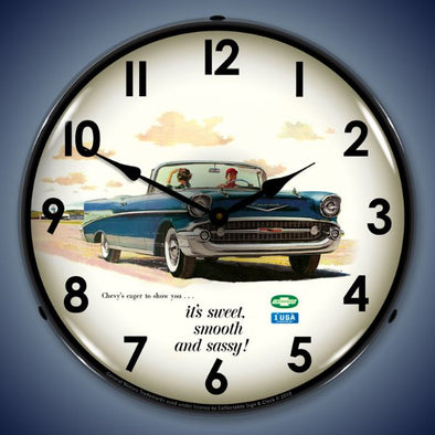 1957 Bel Air Convertible Lighted Clock