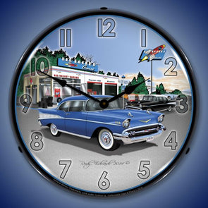 1957 Bel Air Rocket Gas Lighted Clock