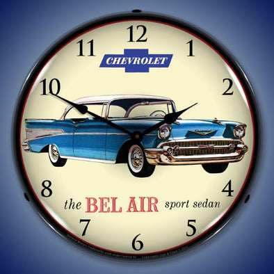 1957 Chevrolet Bel Air Lighted Clock