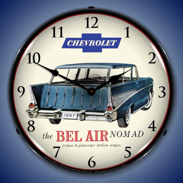 1957 Chevrolet Nomad Lighted Clock
