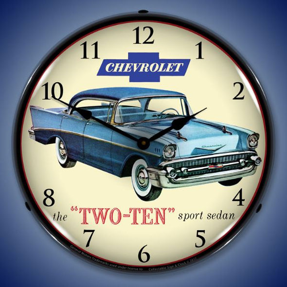 1957 Chevrolet Two Ten Lighted Clock
