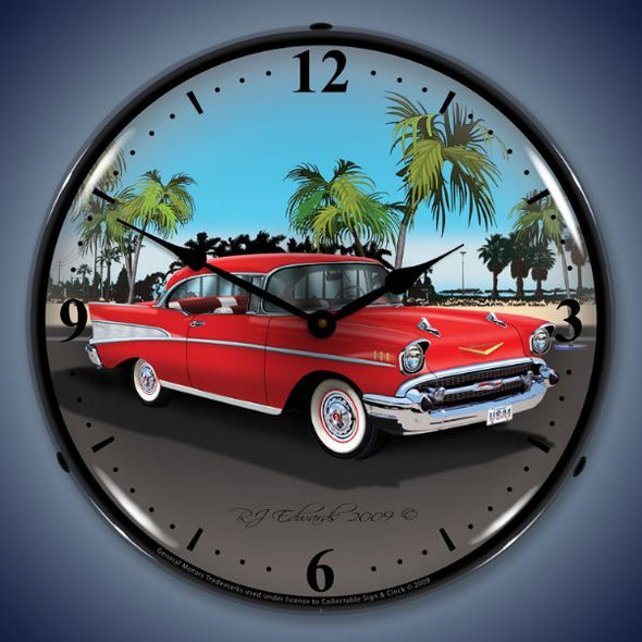 1957 Chevy Lighted Clock