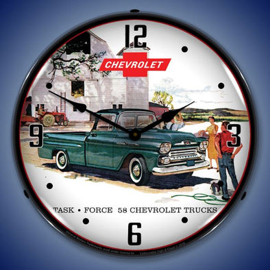 1958 Chevrolet Truck Lighted Clock