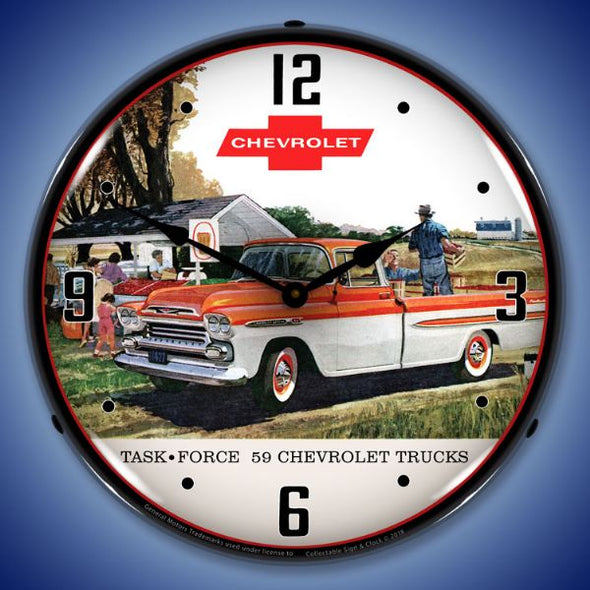 1959 Chevrolet Task Force Truck Lighted Clock