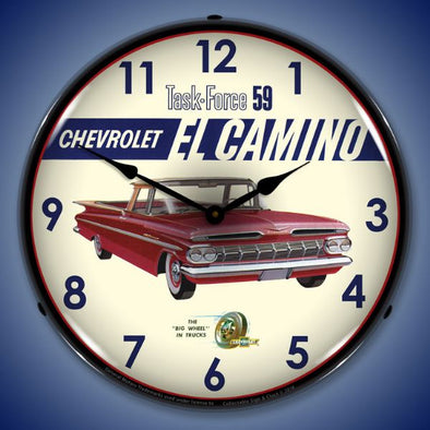 1959 El Camino Lighted Clock