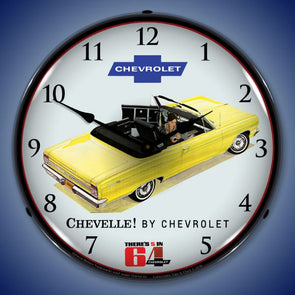 1964 Chevelle Convertible Lighted Clock