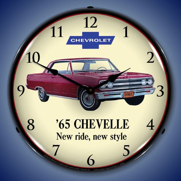 1965 Chevelle Lighted Clock