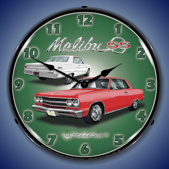 1965 Chevelle Malibu SS Lighted Clock