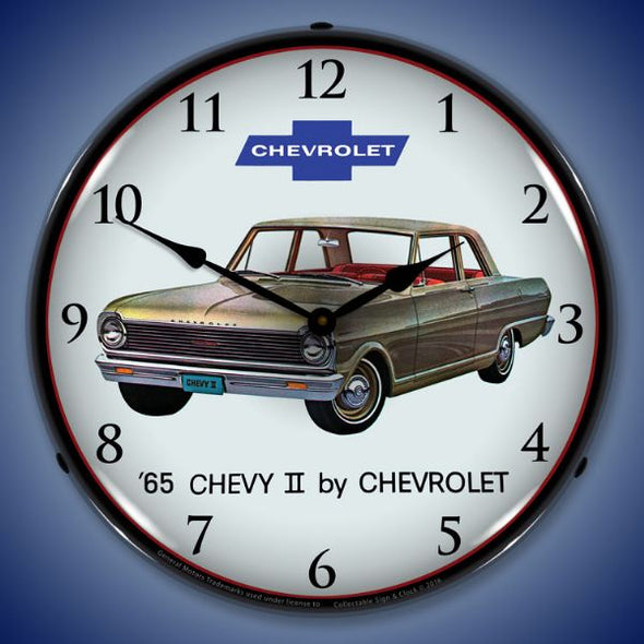 1965 Chevy II Nova Lighted Clock