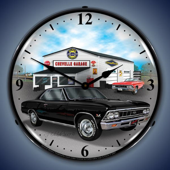 1966 Chevelle Lighted Clock