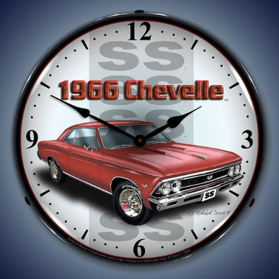 1966 SS Chevelle Lighted Clock
