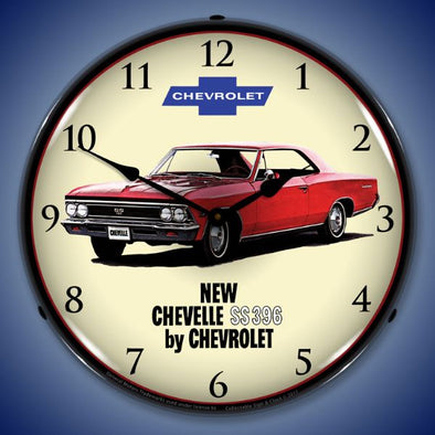 1966 Chevelle SS 396 Lighted Clock