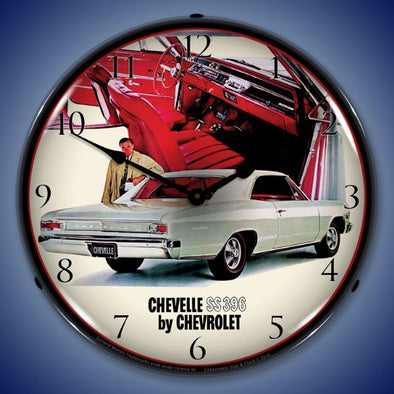 1966 Chevelle SS 396 RI Lighted Clock