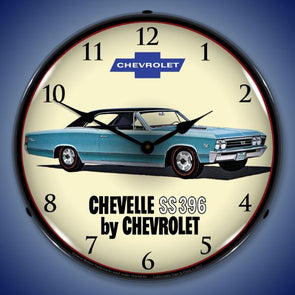 1967 Chevelle SS 396 Lighted Clock