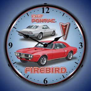 1967 Pontiac Firebird Lighted Clock