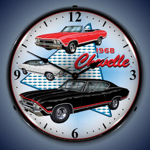 1968 Chevelle Lighted Clock