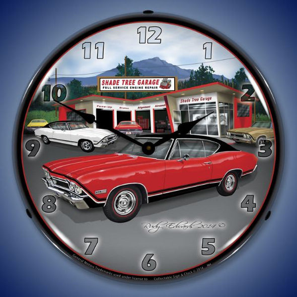 1968 SS Chevelle Lighted Clock