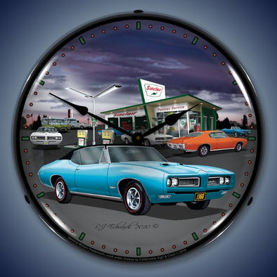 1968 Sinclair GTO Lighted Clock