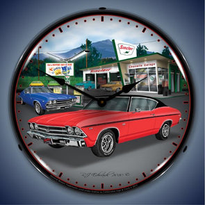 1969 Chevelle Lighted Clock