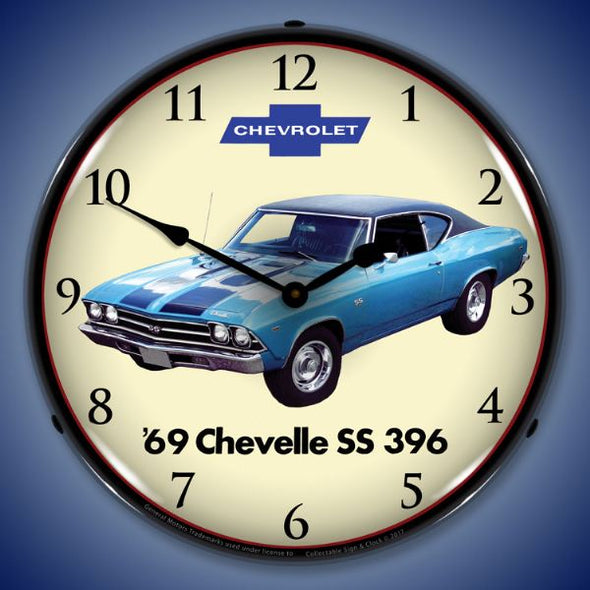 1969 Chevelle SS 396 Lighted Clock