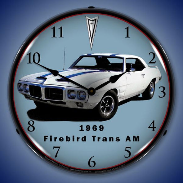 1969 Firebird Trans Am Lighted Clock