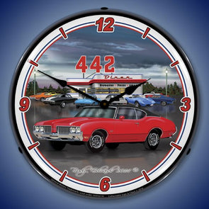 1970 442 Oldsmobile Lighted Clock