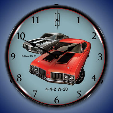 1970 442 W-30 & W-31 Oldsmobile Lighted Clock