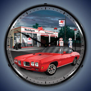 1970 GTO Mobilegas Lighted Clock