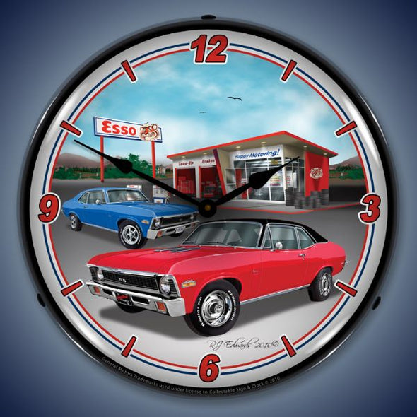 1970 Nova Lighted Clock