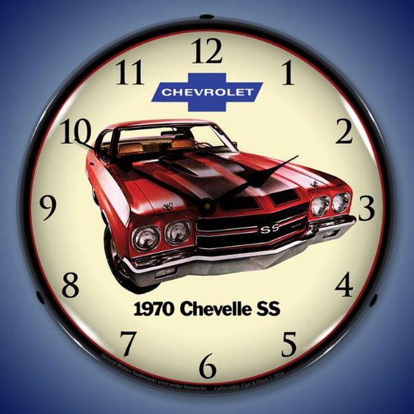 1970 SS Chevelle Lighted Clock