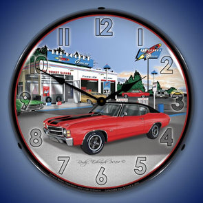 1971 SS Chevelle Lighted Clock