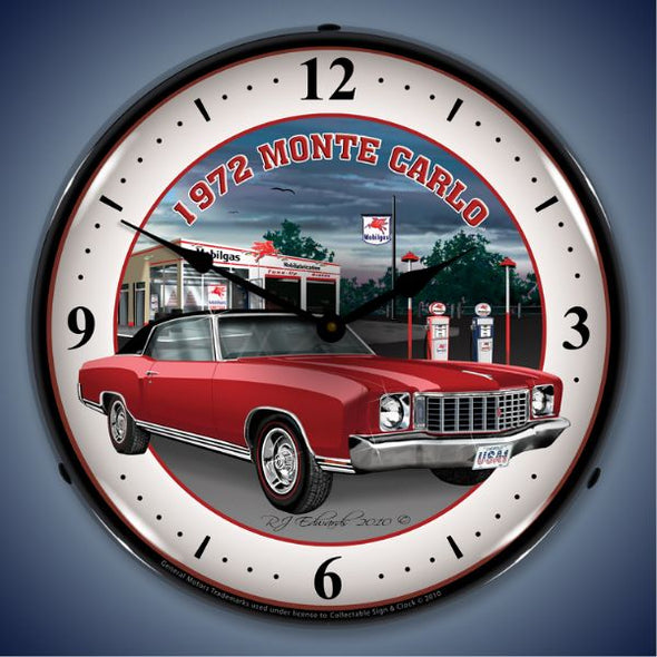 1972 Monte Carlo Lighted Clock