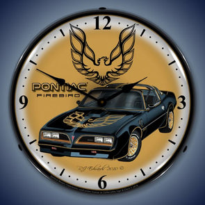 1977 Pontiac Firebird Lighted Clock