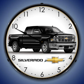 Chevrolet Silverado Black Lighted Clock