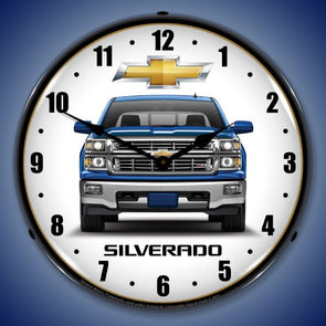 Chevrolet Silverado Blue Lighted Clock