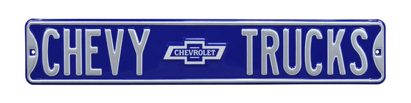 Chevy Trucks Bowtie Steel Street Sign