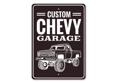 Custom Chevy Garage- Aluminum Sign