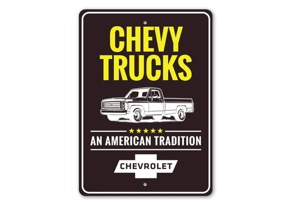 American Tradition Chevy Truck - Aluminum Sign