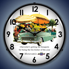 1955 Chevrolet Bel Air Convertible Lighted Clock